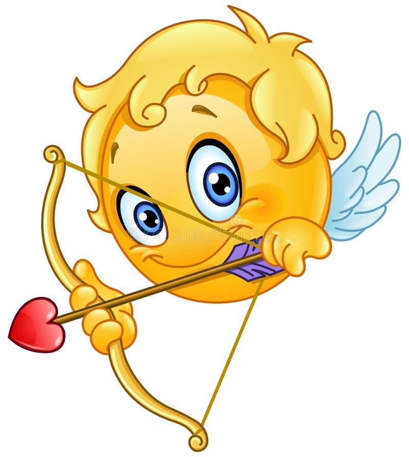 Amorka emoticon ilustracja wektor