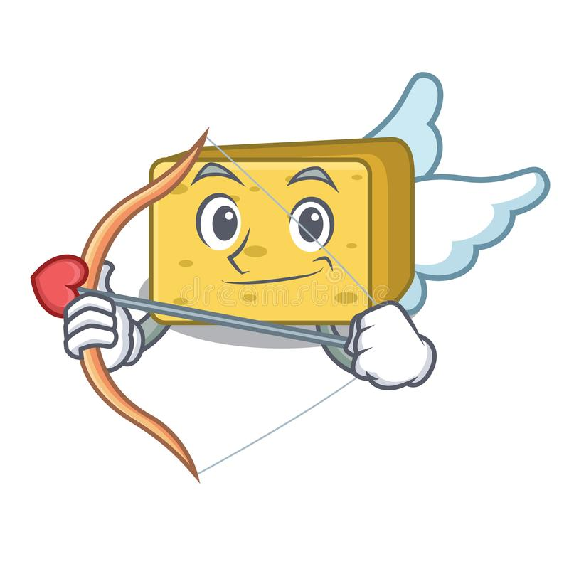 Amorka gouda sera charakteru kreskówka ilustracji