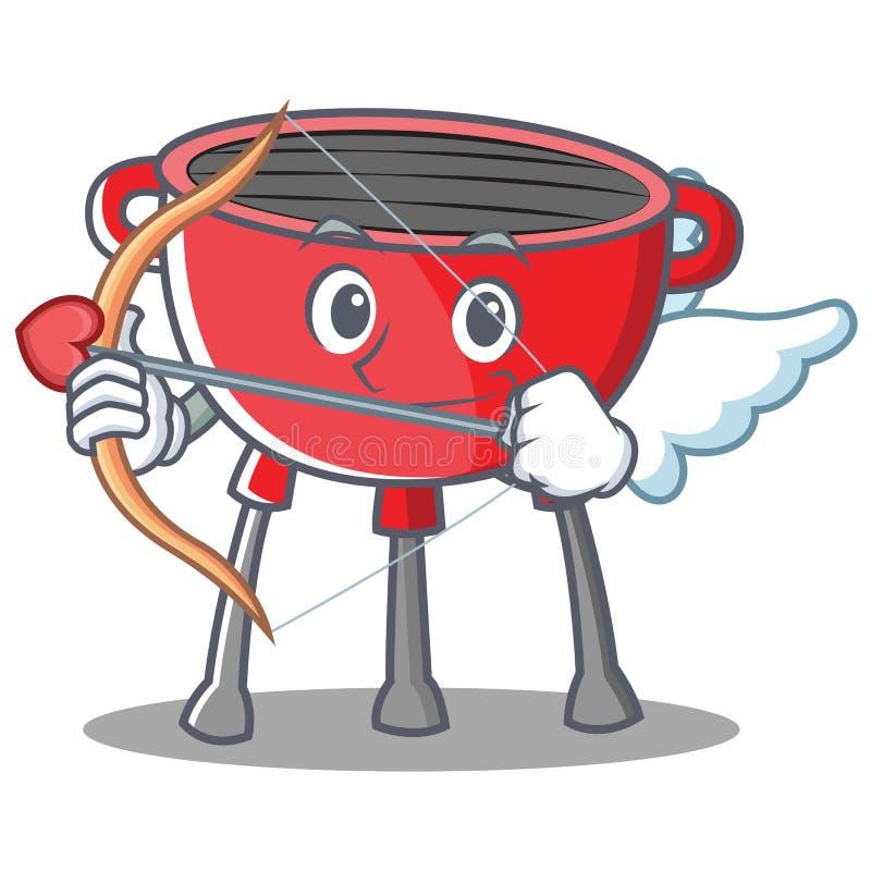 Amorka grilla grilla postać z kreskówki royalty ilustracja