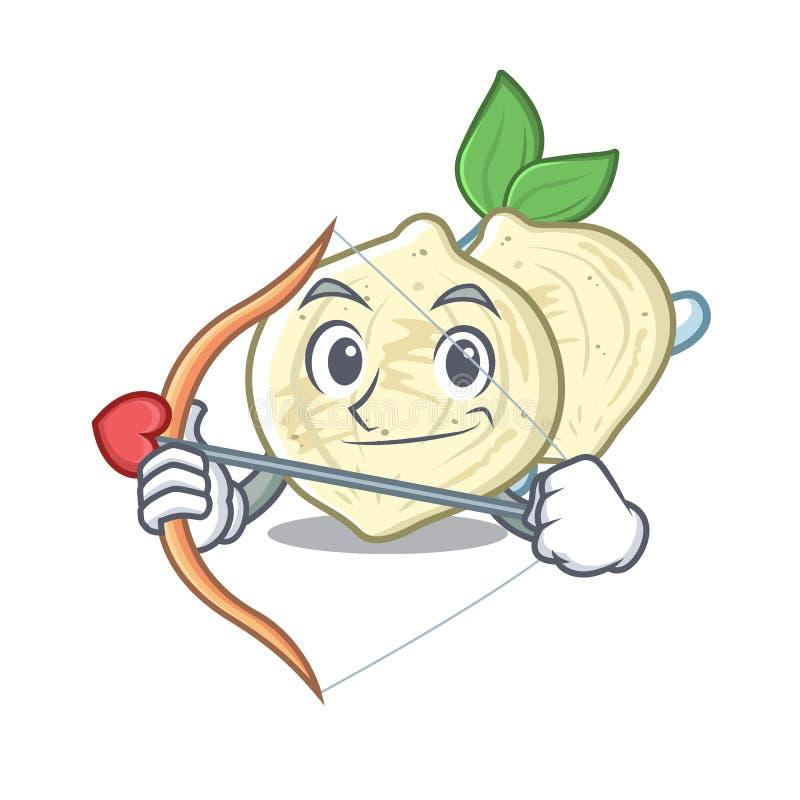 Amorka jicama w z odosobnioną maskotką ilustracji