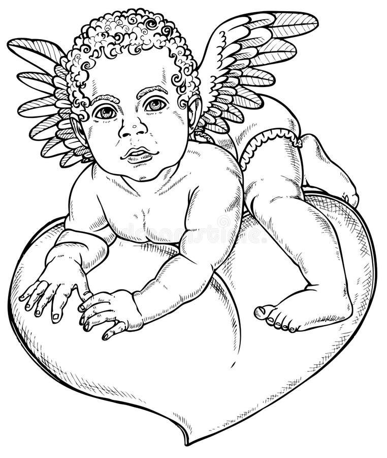Amorka serce ilustracji