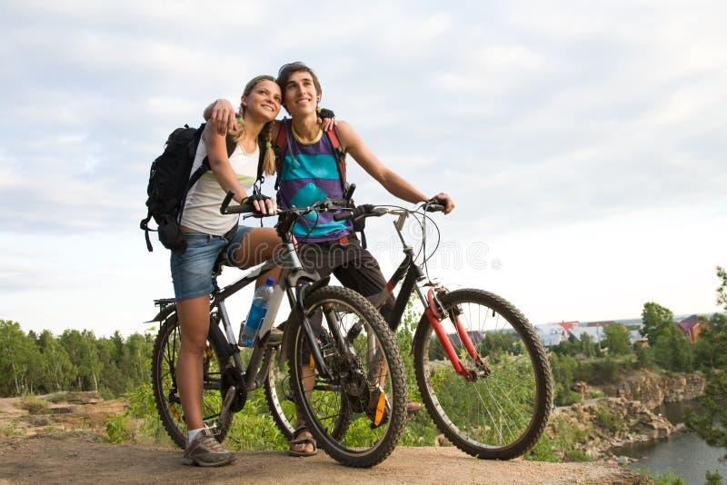 Download Amorous bikers stock photo. Image of active, male, girl - 10310644