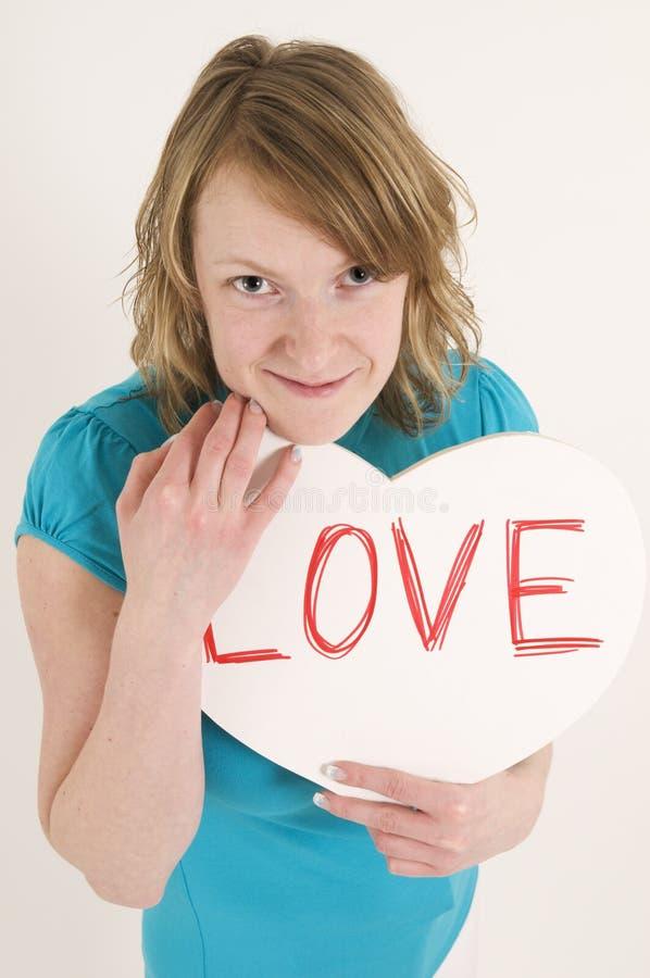 Download Amorous Frau stockbild. Bild von recht, zeichen, entspannt - 9077237