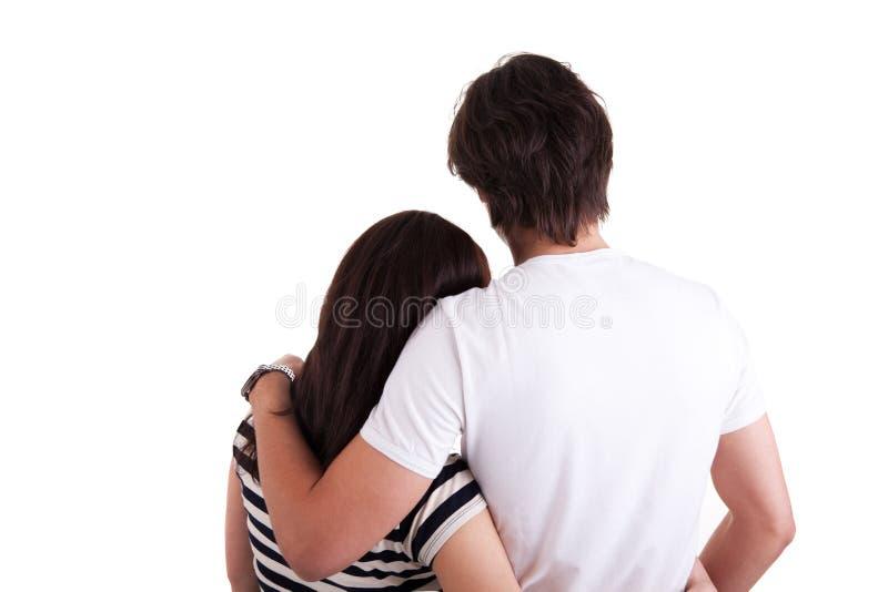 Amorous Paarumarmen lizenzfreie stockfotografie