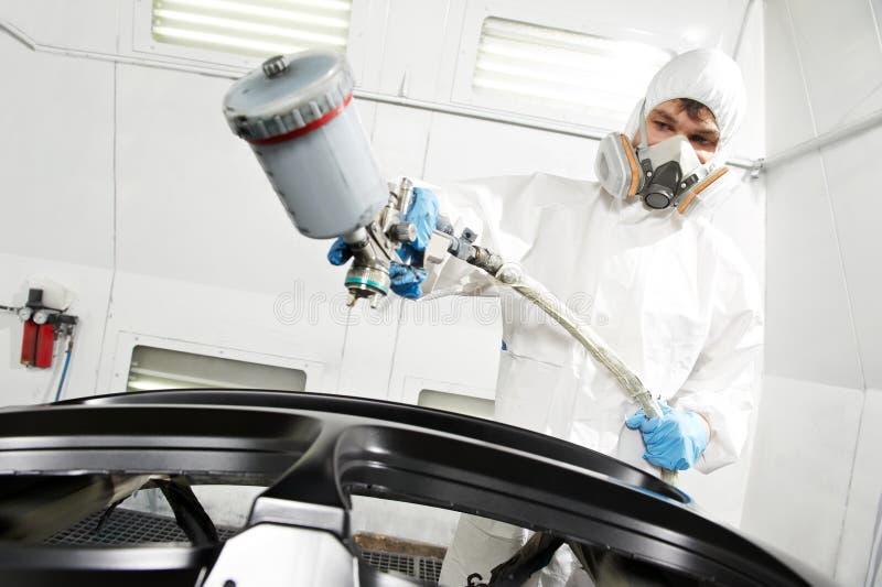 Amortecedor do carro da pintura do auto mecânico foto de stock