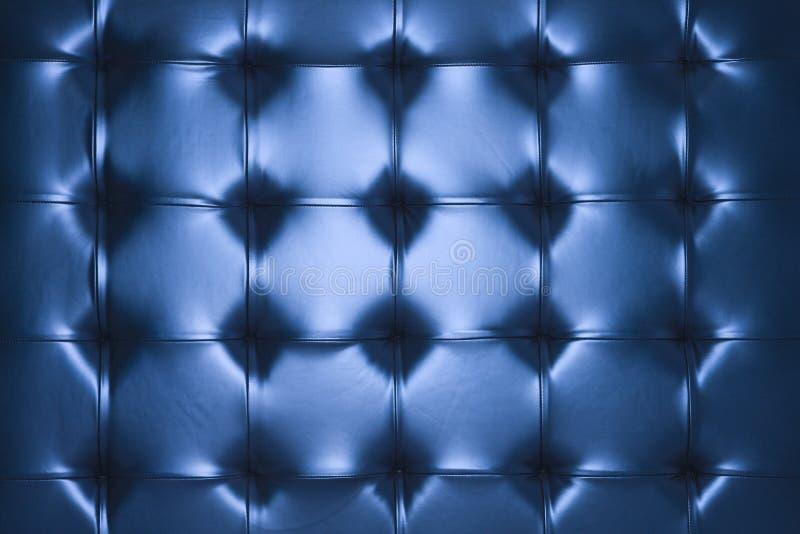 Amortiguador de cuero azul. imagen de archivo libre de regalías
