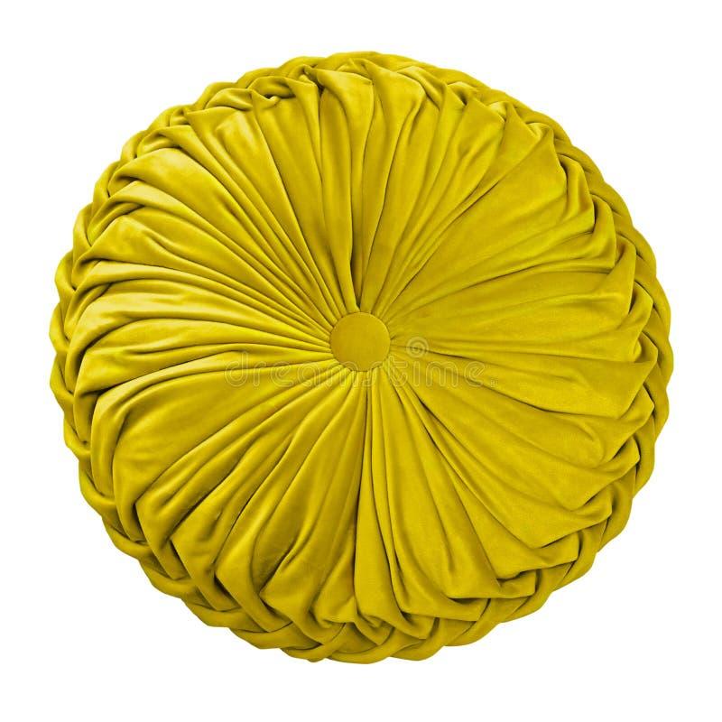 Amortiguador decorativo amarillo fotos de archivo libres de regalías