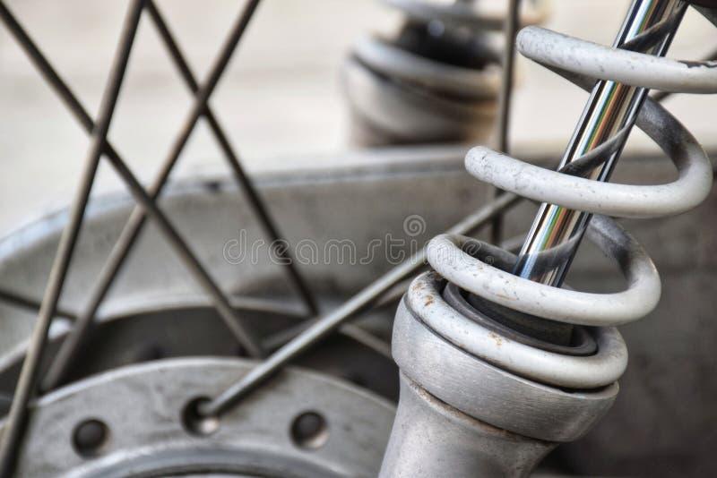 Amortiguadores de choque del vehículo de motor de la motocicleta fotos de archivo