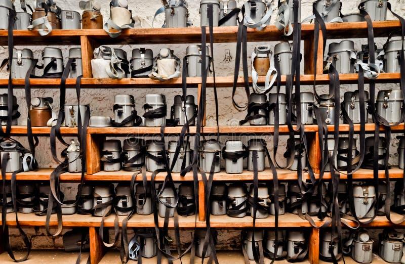 Amortiguadores de la explotación minera. Equipo de rescate de la vida imágenes de archivo libres de regalías