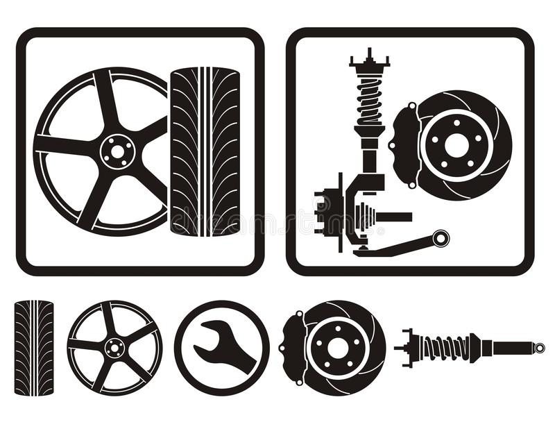 Amortisseur de pneu de RIM illustration libre de droits
