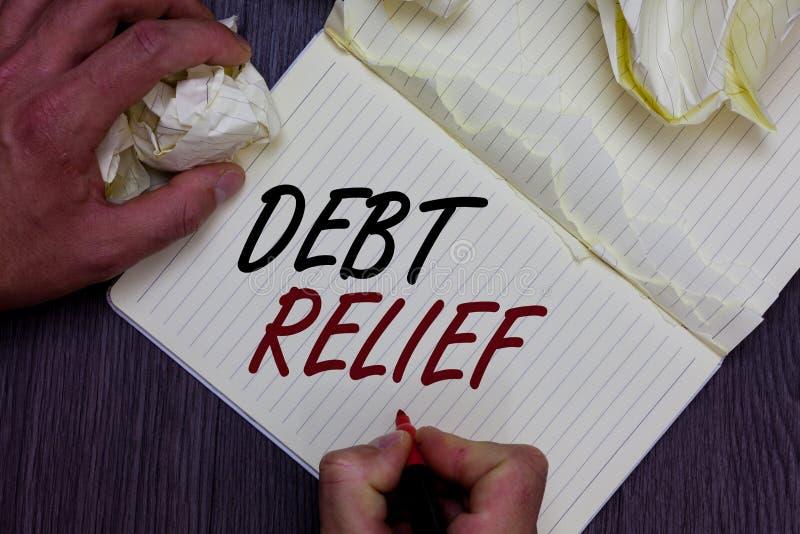 Amortização da dívida do texto da escrita da palavra O conceito do negócio para a remissão parcial ou total dele especialmente aq foto de stock royalty free