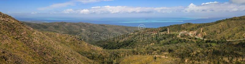 ` Amos Col d, к северу от большого Terre, Новая Каледония, Океания стоковое фото