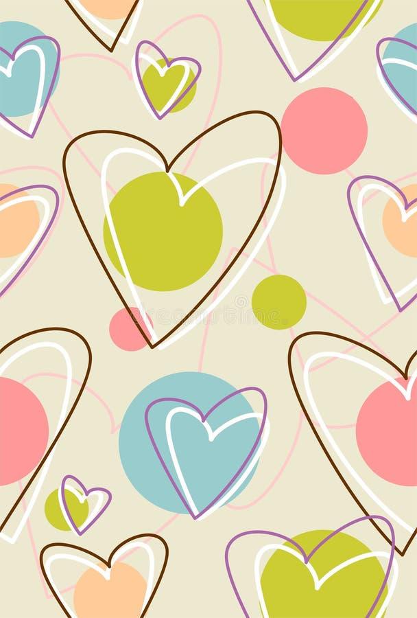 Amostra com coração ilustração stock