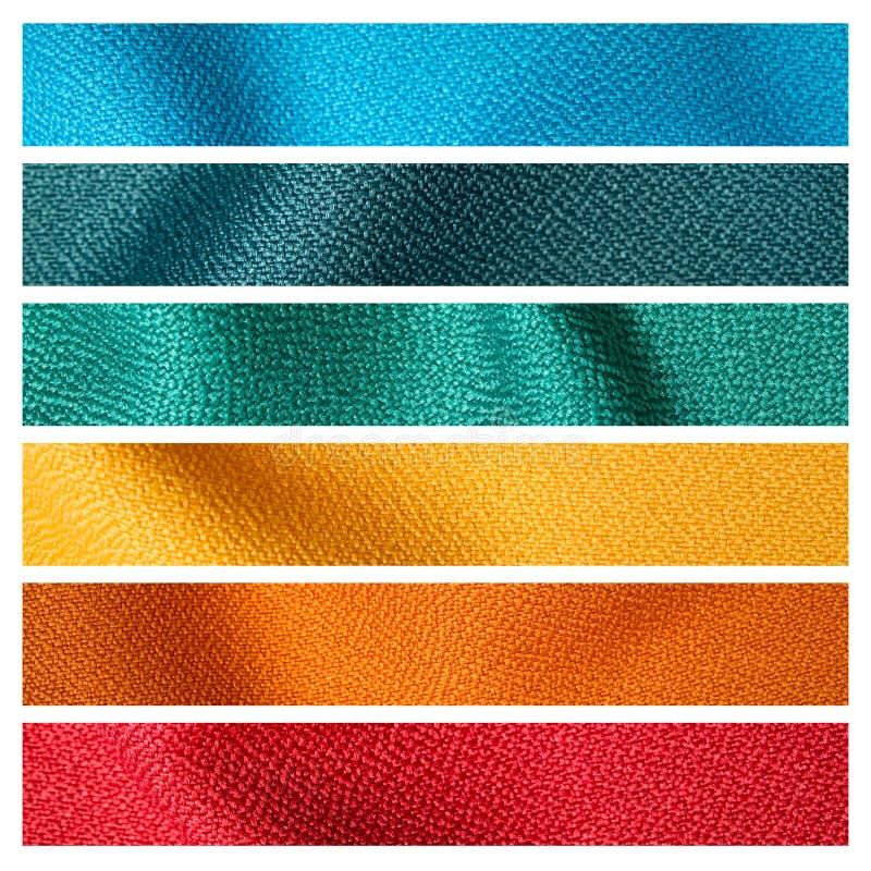 Amostra da textura da tela de seis cores imagem de stock
