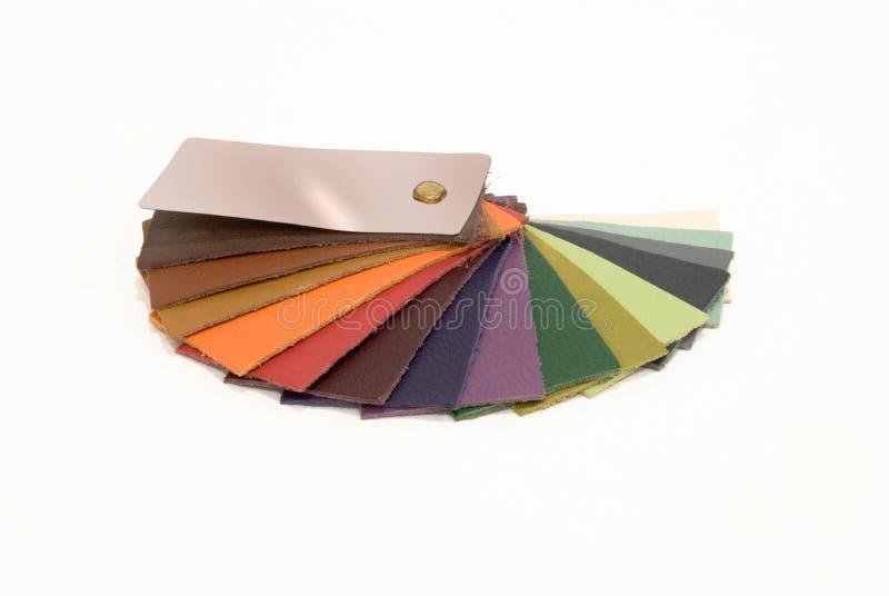 A amostra de couro colore o catálogo imagem de stock royalty free