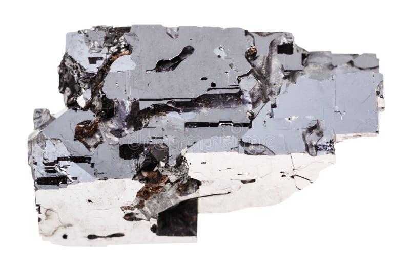 Amostra de pedra do galeno isolada foto de stock