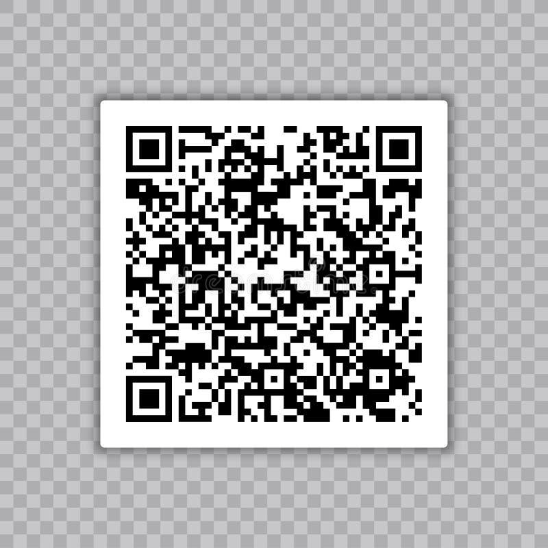 Amostra do código de QR para a exploração do smartphone Isolado no fundo tranparent ilustração royalty free