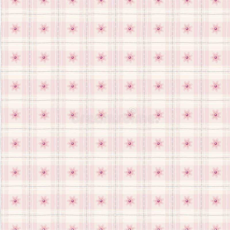 Amostra floral cor-de-rosa fina ilustração do vetor