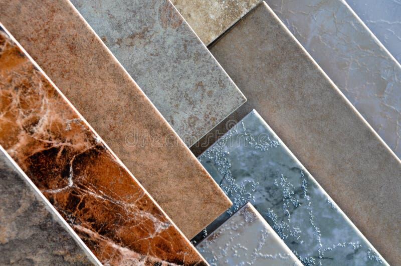 Amostras da telha cerâmica foto de stock