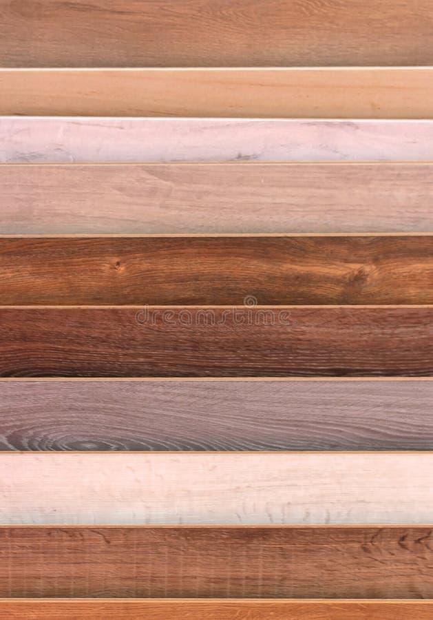 Amostras de assoalho de madeira foto de stock royalty free