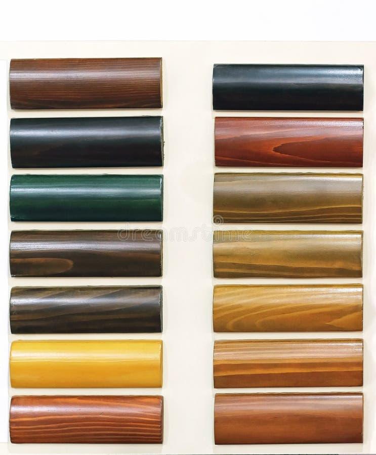 Amostras de assoalho de madeira imagem de stock royalty free