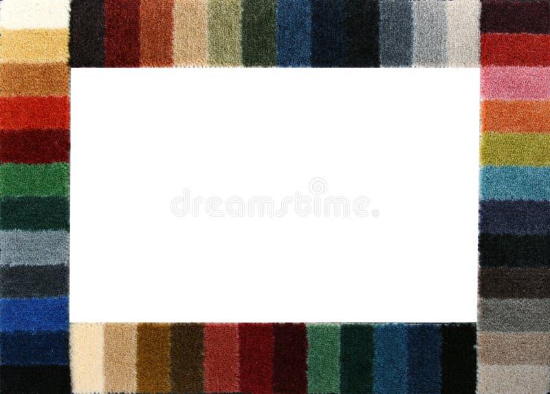 Amostras de cor de uma coberta do tapete imagem de stock royalty free