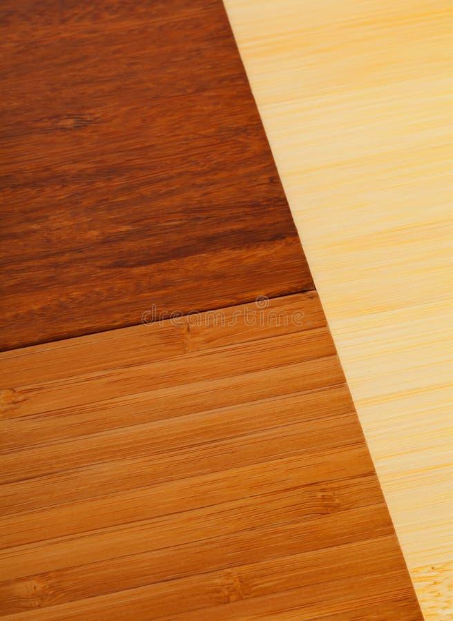 Amostras de revestimento estratificadas do bambu fotografia de stock