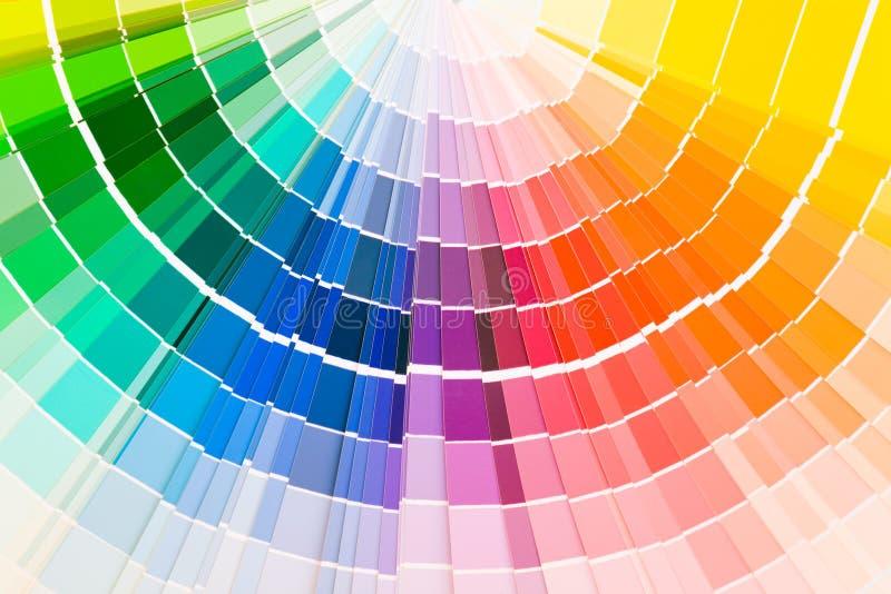 Amostras do guia da cor imagens de stock