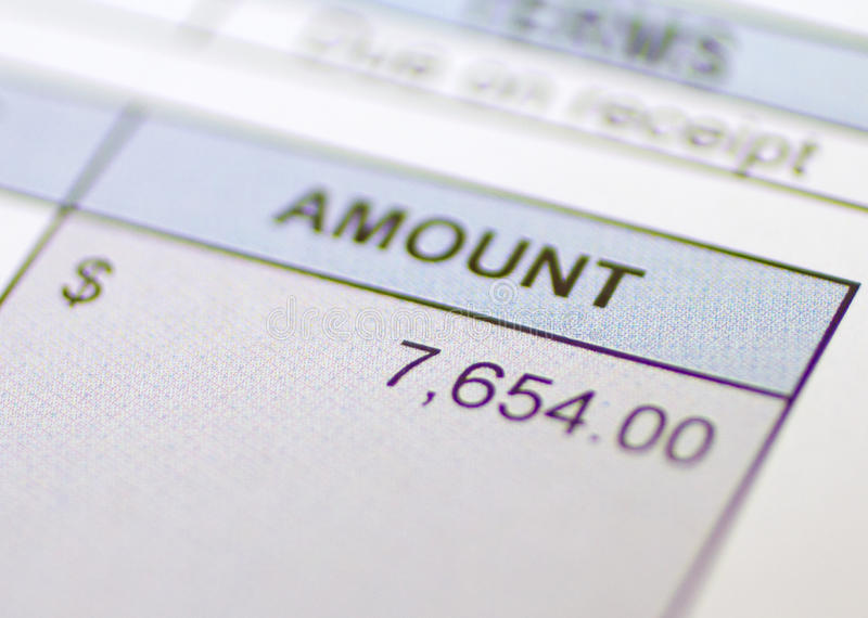 Download Bill Amount owed stock photo. Image of billing, total - 22946418