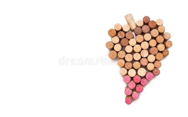 Love for wine. Wine cork heart symbol royalty free stock photos
