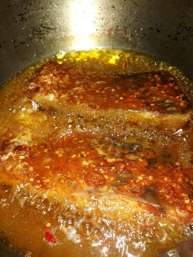 Amour à cuire épicé savoureux de poissons de friture de poissons photo libre de droits