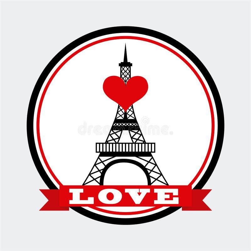 Amour à Paris illustration libre de droits