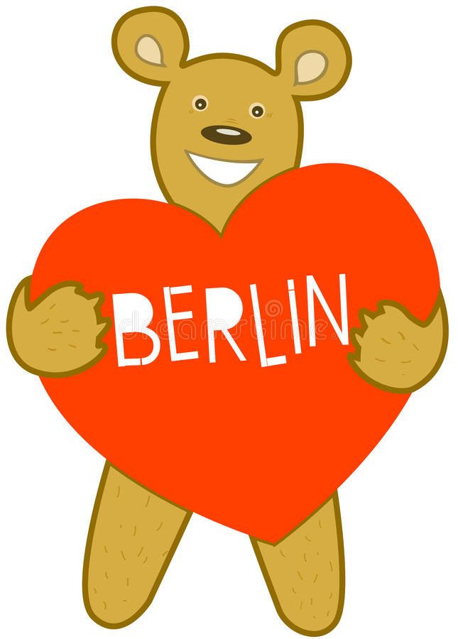 Amour Berlin d'enfants illustration stock
