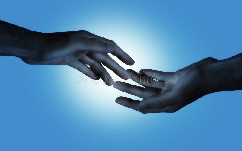 Amour bleu illustration de vecteur