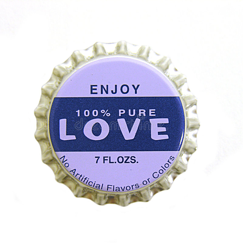 Amour Bottlecap photos libres de droits