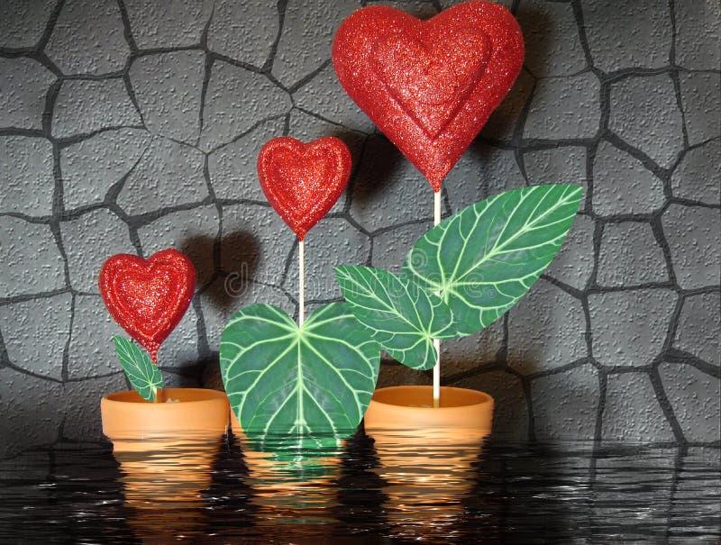 Amour croissant illustration de vecteur