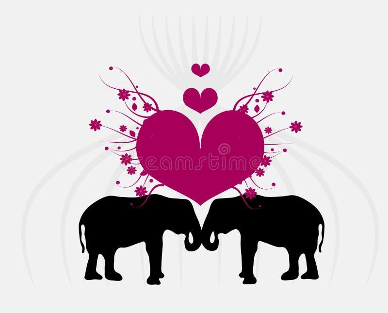 Amour d'éléphant illustration stock