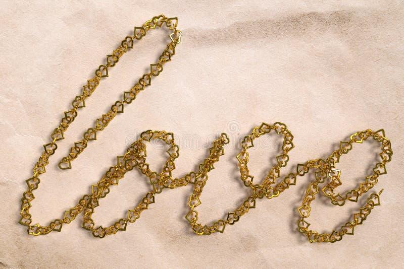 Amour d'or illustration libre de droits