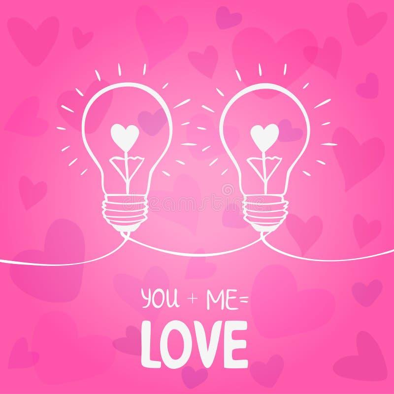 Amour d'ampoule illustration libre de droits