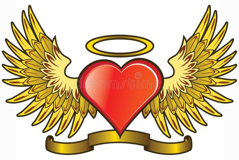 Amour d'ange illustration de vecteur