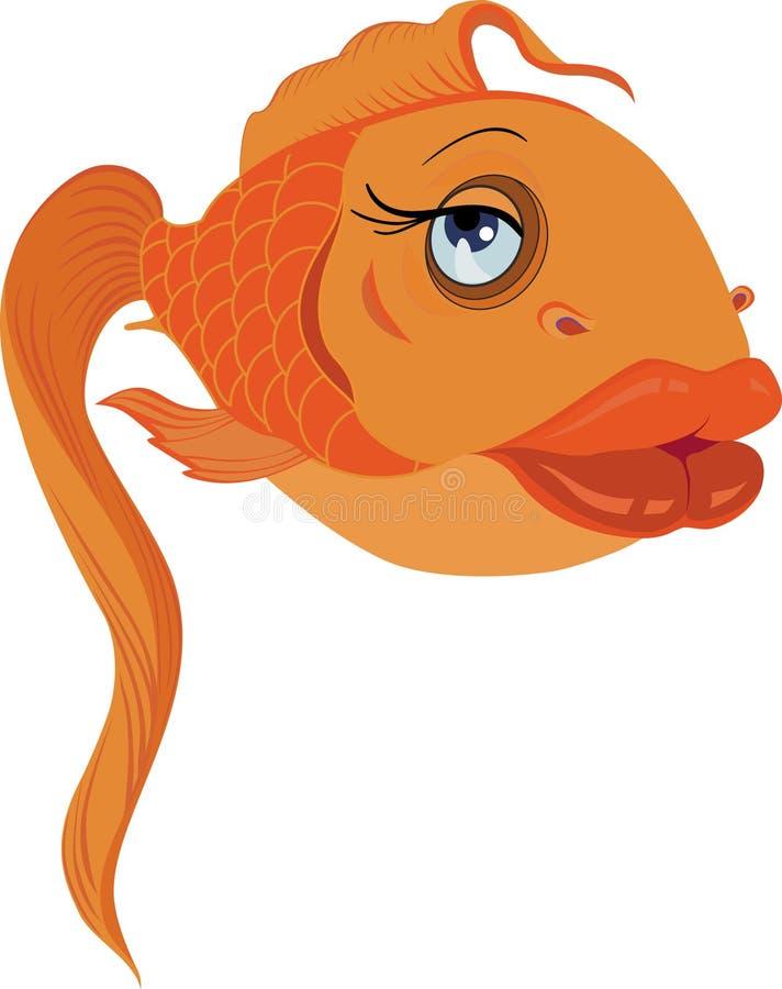 amour d'or de charme de poissons photo libre de droits