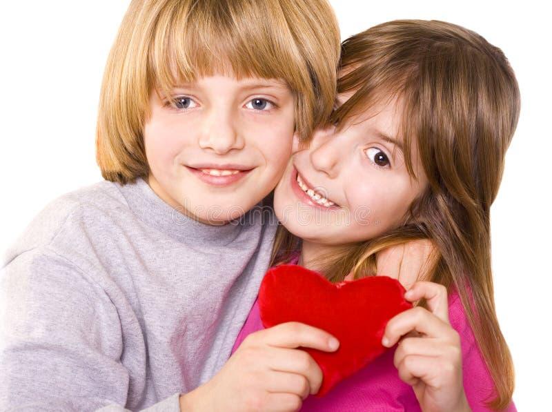Amour d'enfants photographie stock