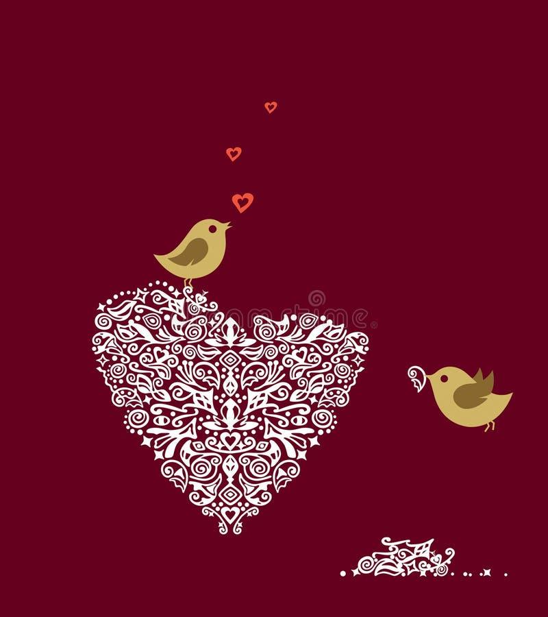 amour d'oiseaux illustration libre de droits