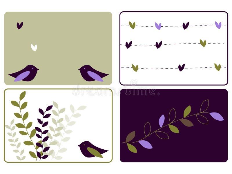 Amour d'oiseaux illustration stock