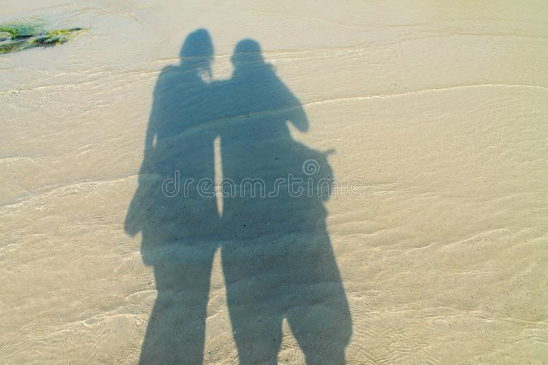 Amour d'ombre photographie stock
