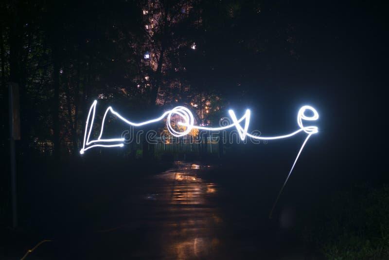 Amour dans le freezelight photo libre de droits
