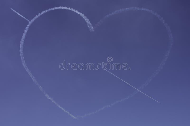 Amour dans les nuages photo stock
