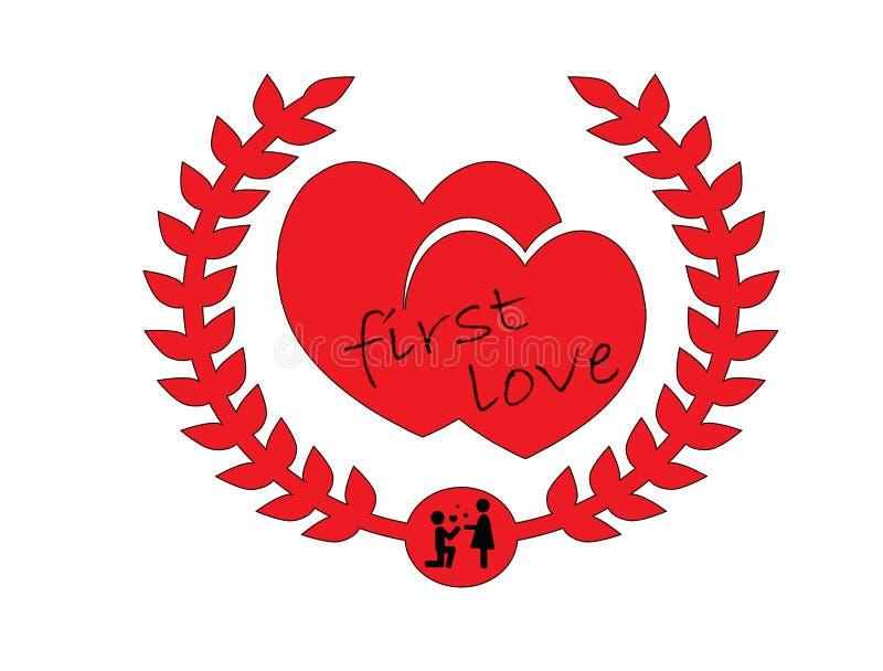Amour de battement illustration libre de droits