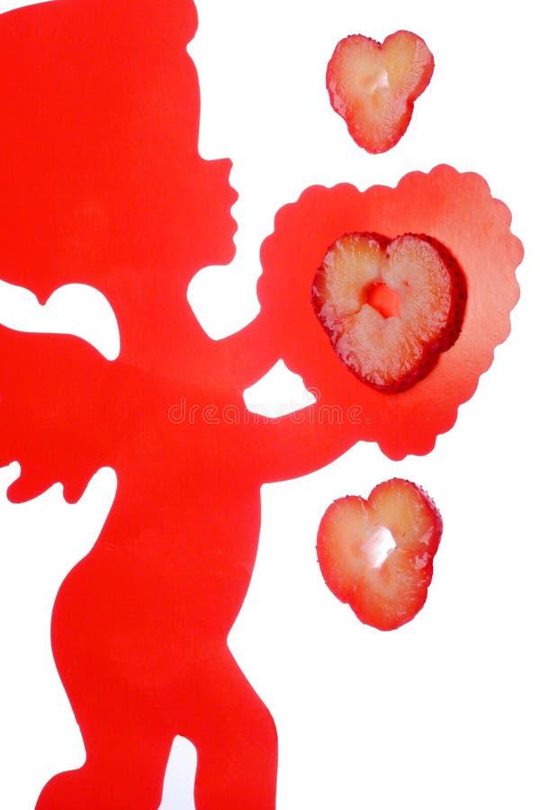 Amour de bonbon à cupidons image libre de droits