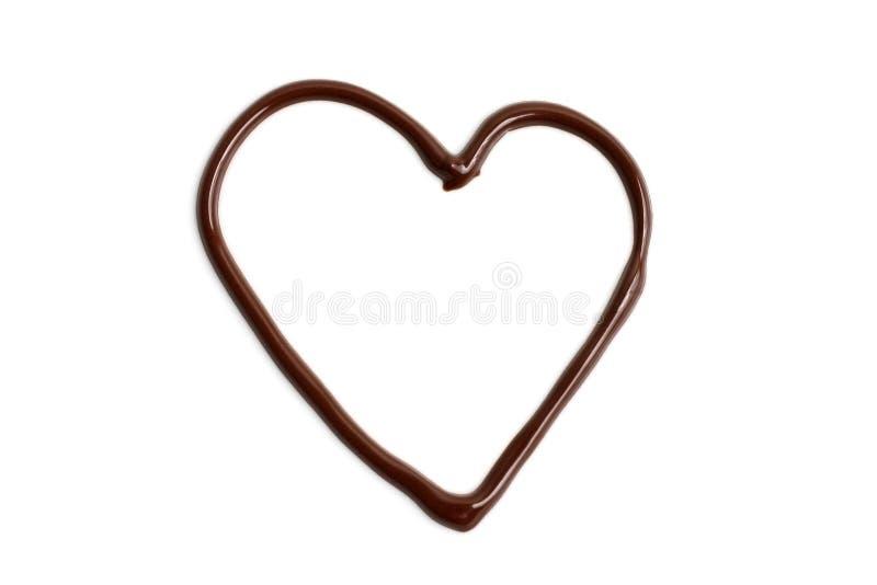 amour de coeur de chocolat image libre de droits